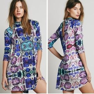 Free People Fiesta Floral Dress Tunic Sz XS